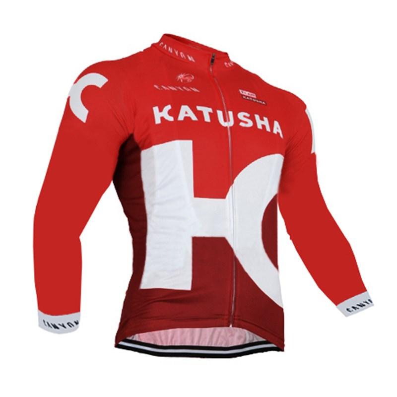2016 KATUSHA Thermal Fleece Cycling Jersey Ropa Ciclismo Winter Long Sleeve and Cycling Pants ropa ciclismo thermal ciclismo jersey thermal
