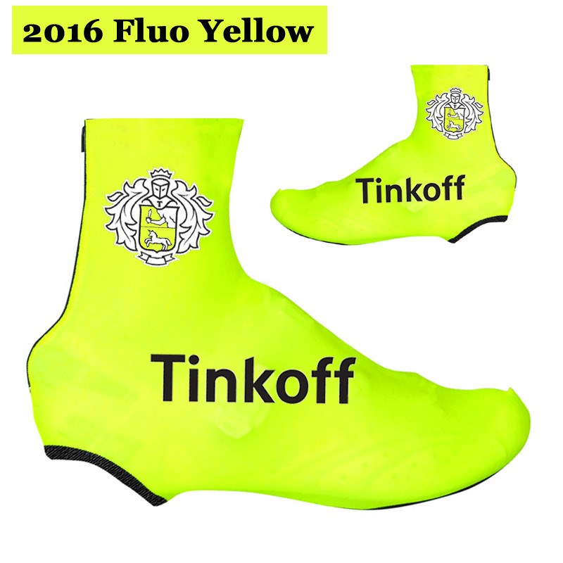 c8aa29cab 2016 Tinkoff Saxo Bank Fluo Yellow Cycling Jersey Maillot Ciclismo Short  Sleeve and Cycling bib Shorts and Shoes Cover