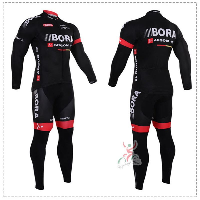2016 bora Thermal Fleece Cycling Jersey Ropa Ciclismo Winter Long Sleeve and Cycling Pants ropa ciclismo thermal ciclismo jersey thermal