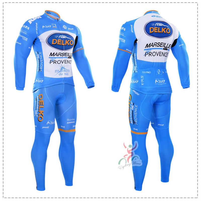 2016 delko Thermal Fleece Cycling Jersey Ropa Ciclismo Winter Long Sleeve and Cycling Pants ropa ciclismo thermal ciclismo jersey thermal