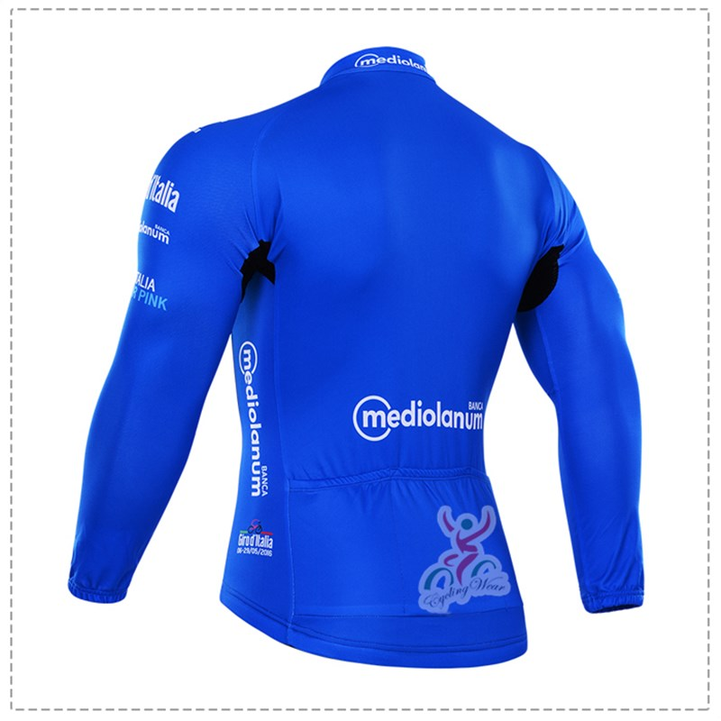 2016 Tour De Italia blue Thermal Fleece Cycling Jersey Ropa Ciclismo Winter Long Sleeve and Cycling Pants ropa ciclismo thermal ciclismo jersey thermal