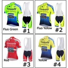 2014 Saxo Bank Cycling Jersey Maillot Ciclismo Short Sleeve and Cycling bib  Shorts Cycling Kits Strap e5d1c45b3