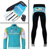 2011 astana Thermal Fleece Cycling Long Jersey+Pants+Gloves Long Finger