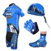 2012 saxobank Cycling Jersey+Shorts+Headscarf+Glove+Shoe Covers