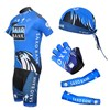 2012 saxobank Cycling Jersey+bibShorts+Headscarf+Glove+Arm sleeve S