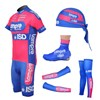 2012 Lampre Cycling Jersey+Shorts+Arm Sleeves+Leg warmer+Shoe Covers+Headscarf S