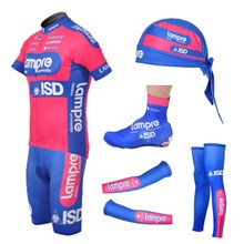 2012 Lampre Cycling Jersey+bib Shorts+Arm Sleeves+Leg warmer+Shoe Covers+Headscarf