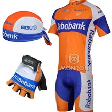 ... 2012 rabobank Cycling Jersey and bib Shorts and gloves and Headscarf 011240659
