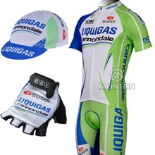 2012 liquigas Cycling Jersey and bib Shorts and Cap and Gloves edebaec9d