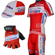 2012 katusha Cycling Jersey and bib Shorts and Cap and Gloves 65f7a0e3e