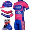 2012 lampre Cycling Jersey+bib Shorts+Arm Sleeves+Cap+Gloves
