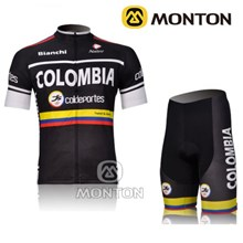 2012 Colombia Cycling Jersey Short Sleeve and Cycling Shorts Cycling Kits S