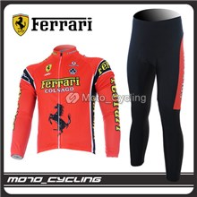 2012 Thermal Fleece FALALI Cycling Jersey Long Sleeve and Cycling Pants S