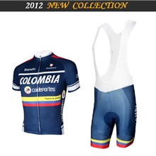 2012 ringwise colombia Cycling Jersey Short Sleeve and Cycling bib Shorts Cycling Kits Strap S