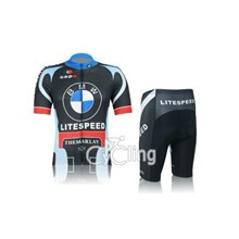 2012 BMW Cycling Jersey Short Sleeve and Cycling Shorts Cycling Kits S