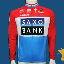 2010 saxo bank Cycling Jersey Long Sleeve Only Cycling Clothing f7c96347a