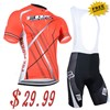 Special discounts!2014 FOX Red Cycling Jersey and bib Shorts Cycling bib Kits S