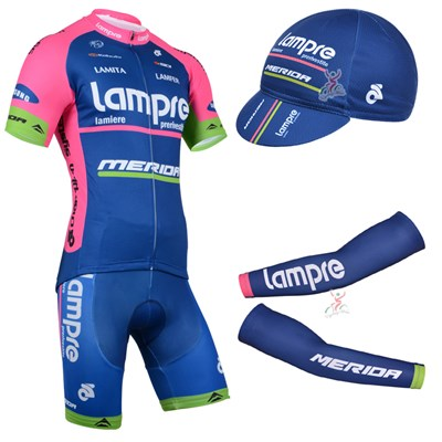 2014 Lampre Cycling Jersey+bib shorts+ cap+Arm Sleeves-Up to 60% off ... 0dbccd5ef