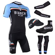 2014 bianchi Cycling Jersey Maillot Ciclismo Short Sleeve and Cycling bib Shorts Or Shorts and Cap and Arm Sleeve and Leg Sleeve and Shoe Cover Tour D