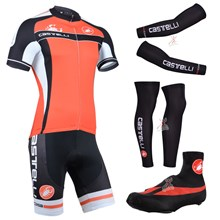 2014 castelli Cycling Jersey Maillot Ciclismo Short Sleeve and Cycling bib Shorts Or Shorts and Shoe Cover and Arm Sleeve and Leg Sleeve Tour De Franc