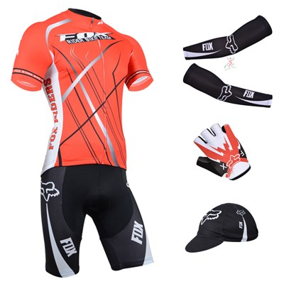 2014 fox Cycling Jersey Maillot Ciclismo Short Sleeve and Cycling bib Shorts  Or Shorts and Cap and Arm Sleeve and Gloves Tour De France-Up to 60% off 28214182c