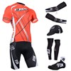 2014 fox Cycling Jersey Maillot Ciclismo Short Sleeve and Cycling bib Shorts Or Shorts and Cap and Arm Sleeve and Leg Sleeve and Shoe Cover Tour De France XXS