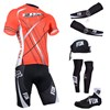 2014 fox Cycling Jersey Maillot Ciclismo Short Sleeve and Cycling bib Shorts Or Shorts and Scarf and Arm Sleeve and  Leg Sleeve and Shoe Cover Tour De France XXS