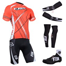 2014 fox Cycling Jersey Maillot Ciclismo Short Sleeve and Cycling bib Shorts Or Shorts and Shoe Cover and Arm Sleeve and Leg Sleeve Tour De France