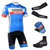 2014 GARMIN Cycling Jersey Maillot Ciclismo Short Sleeve and Cycling bib Shorts Or Shorts and Shoe Cover and Arm Sleeve and Leg Sleeve Tour De France XXS