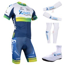 2014 greenedge orica  Cycling Jersey Maillot Ciclismo Short Sleeve and Cycling bib Shorts Or Shorts and Shoe Cover and Arm Sleeve and Leg Sleeve Tour