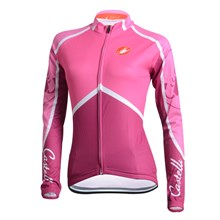 2014 CASTELLI Women Cycling Jersey Long Sleeve Only Cycling Clothing  cycle jerseys Ropa Ciclismo bicicletas maillot ciclismo XXS