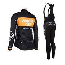2015 Wiggle Woman Cycling Jersey Long Sleeve and Cycling bib Pants Cycling Kits Strap