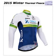 2015 Orica Greenedge Thermal Fleece Cycling Jersey Ropa Ciclismo Winter Long Sleeve Only Cycling Clothing cycle jerseys Ropa Ciclismo bicicletas maillot ciclismo XXS