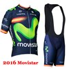 2016 movistar Cycling Jersey Maillot Ciclismo Short Sleeve and Cycling bib Shorts Cycling Kits Strap cycle jerseys Ciclismo bicicletas XXS