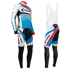 2016 Cube Cycling Jersey Long Sleeve and Cycling bib Pants Cycling Kits Strap XXS