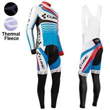 2016 Cube Thermal Fleece Cycling Jersey Long Sleeve Ropa Ciclismo Winter and Cycling bib Pants ropa ciclismo thermal ciclismo jersey thermal XXS