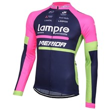 2016 Lampre  Cycling Jersey Long Sleeve Only Cycling Clothing cycle jerseys Ropa Ciclismo bicicletas maillot ciclismo XXS