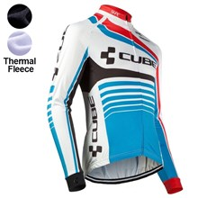 2016 Cube  Thermal Fleece Cycling Jersey Ropa Ciclismo Winter Long Sleeve Only Cycling Clothing cycle jerseys Ropa Ciclismo bicicletas maillot ciclismo XXS