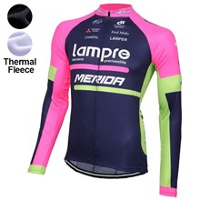 2016 Lampre  Thermal Fleece Cycling Jersey Ropa Ciclismo Winter Long Sleeve Only Cycling Clothing cycle jerseys Ropa Ciclismo bicicletas maillot ciclismo XXS