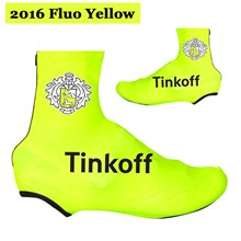 2016 Tinoff Saxo Bank Fluo Yellow Cycling Shoe Covers bicycle sportswear  mtb racing ciclismo men bycicle 0ca9462f3