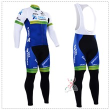2016 orica greenedge Cycling Jersey Long Sleeve and Cycling bib Pants Cycling Kits Strap XXS