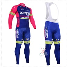2016 lampre Thermal Fleece Cycling Jersey Long Sleeve Ropa Ciclismo Winter and Cycling bib Pants ropa ciclismo thermal ciclismo jersey thermal XXS