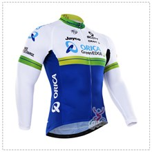 2016 orica greenedge Thermal Fleece Cycling Jersey Ropa Ciclismo Winter Long Sleeve Only Cycling Clothing cycle jerseys Ropa Ciclismo bicicletas maillot ciclismo XXS
