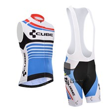 2015 CUBE Cycling Maillot Ciclismo Vest Sleeveless and Cycling Bib Shorts Cycling Kits cycle jerseys Ciclismo bicicletas XXS