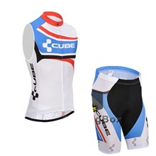 2015 CUBE Cycling Vest Maillot Ciclismo Sleeveless and Cycling Shorts Cycling Kits cycle jerseys Ciclismo bicicletas XXS