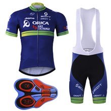 Orica Greenedge 2017  Cycling Jersey Maillot Ciclismo Short Sleeve and Cycling bib Shorts Cycling Kits Strap cycle jerseys Ciclismo bicicletas XXS