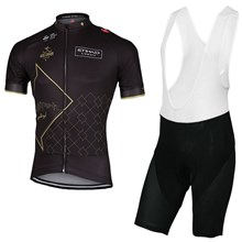 cfde1db61cc 2017 abu dhabi tour black cycling jersey maillot ciclismo short sleeve and  cycling bib shorts cycling