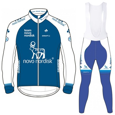 2017 Team Novo Nordisk DEVELOPMENT Blue Cycling Jersey Long Sleeve ... b3196957d