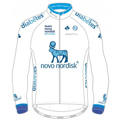 2017 Team Novo Nordisk DEVELOPMENT White Cycling Jersey Long Sleeve ... e994e5fff
