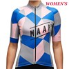2016 Women's  Maap Cube Blue-Pink Cycling Cycling Jersey Ropa Ciclismo Short Sleeve Only Cycling Clothing cycle jerseys Ciclismo bicicletas maillot ciclismo XXS
